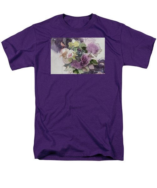 Men's T-Shirt  (Regular Fit) featuring the painting Passionate About Purple by Elizabeth Carr