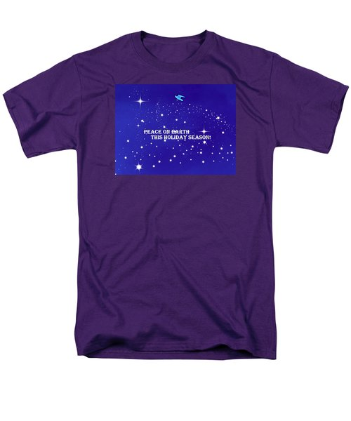 Peace On Earth Card Men's T-Shirt  (Regular Fit) by Kathy Barney