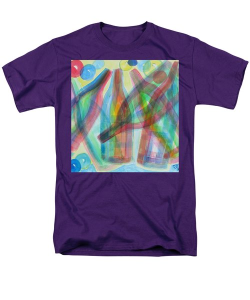 Men's T-Shirt  (Regular Fit) featuring the painting Plaid Wine by Diane Pape