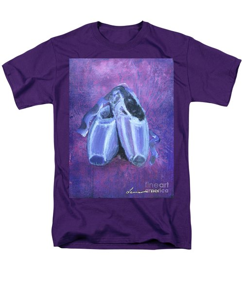 Men's T-Shirt  (Regular Fit) featuring the painting Pointe Shoes by Laurianna Taylor