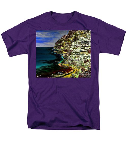Positano At Night Men's T-Shirt  (Regular Fit) by Loredana Messina