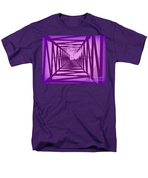 Men's T-Shirt  (Regular Fit) featuring the photograph Purple Perspective by Clare Bevan