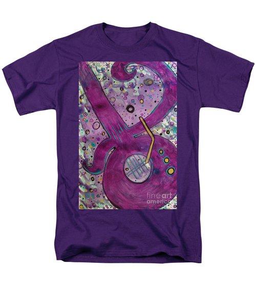 Purple Strings Men's T-Shirt  (Regular Fit) by Jacqueline Athmann