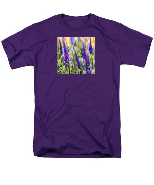 Salvia Sway Men's T-Shirt  (Regular Fit) by Jean OKeeffe Macro Abundance Art