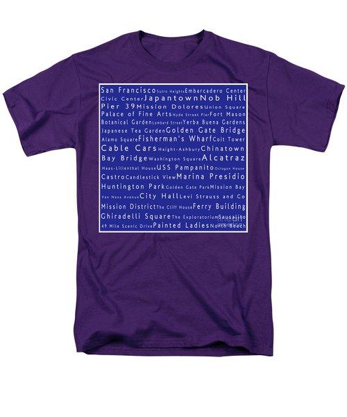 San Francisco In Words Blue Men's T-Shirt  (Regular Fit) by Sabine Jacobs