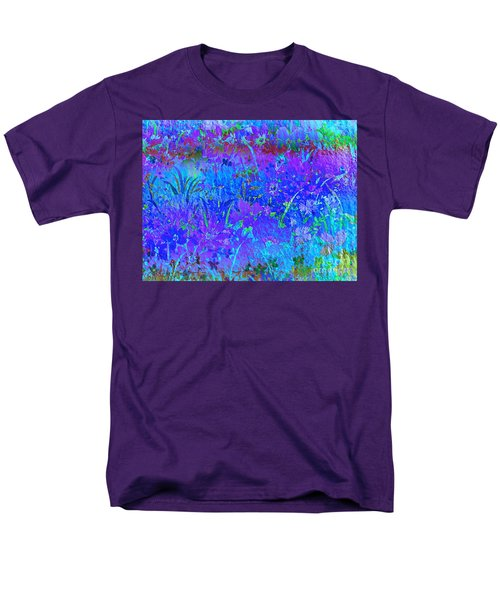 Men's T-Shirt  (Regular Fit) featuring the photograph Soft Pastel Floral Abstract by Judy Palkimas