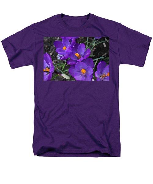 Men's T-Shirt  (Regular Fit) featuring the photograph Soft Purple Crocus by Judy Palkimas
