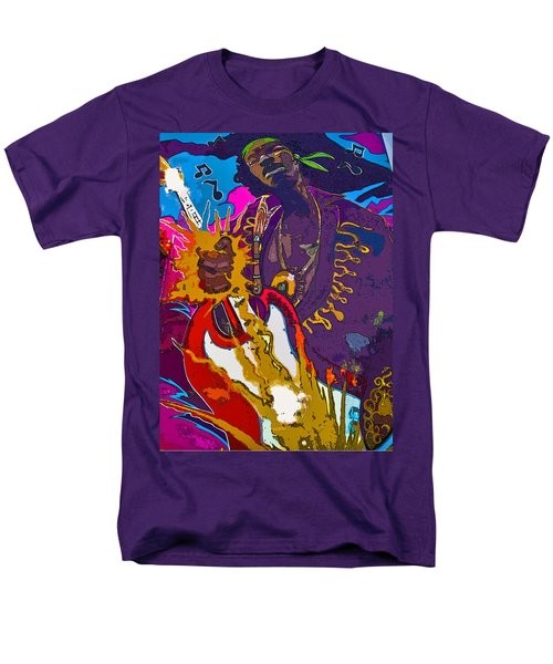 Splash Of Hendrix Men's T-Shirt  (Regular Fit)