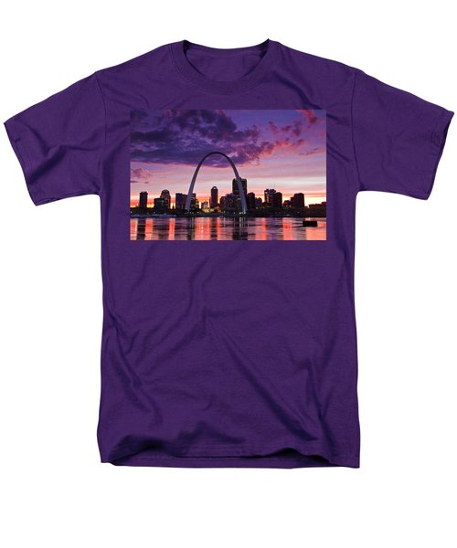 St Louis Sunset Men's T-Shirt  (Regular Fit) by Garry McMichael