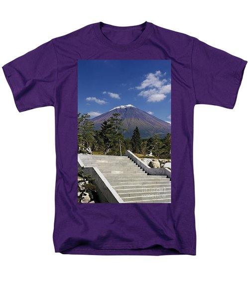 Men's T-Shirt  (Regular Fit) featuring the photograph Stairway To Mt Fuji by Ellen Cotton
