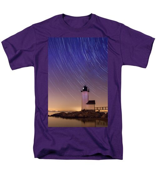 Stars Trailing Over Lighthouse Men's T-Shirt  (Regular Fit) by Jeff Folger