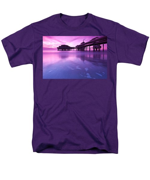 Men's T-Shirt  (Regular Fit) featuring the photograph Sunset Over The Pier by Mihai Andritoiu