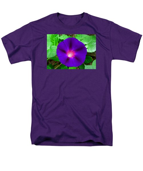 Men's T-Shirt  (Regular Fit) featuring the photograph Tall Morning Glory by William Tanneberger