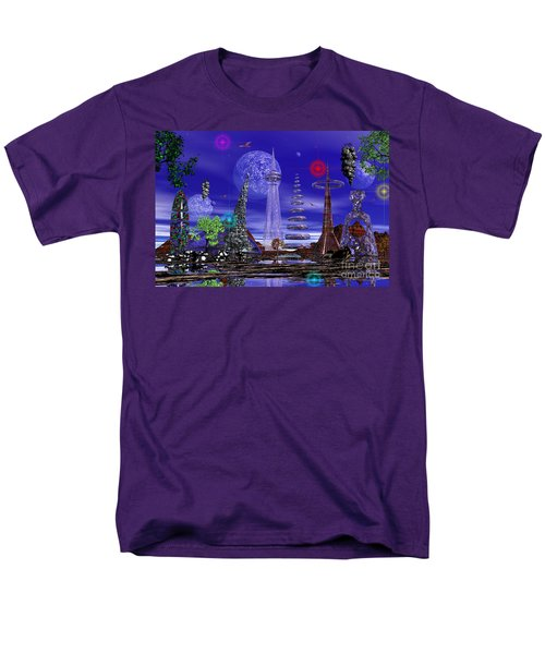 Men's T-Shirt  (Regular Fit) featuring the photograph The Lakes Of Zorg by Mark Blauhoefer