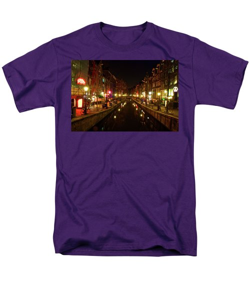 Men's T-Shirt  (Regular Fit) featuring the photograph The Red Lights Of Amsterdam by Jonah  Anderson