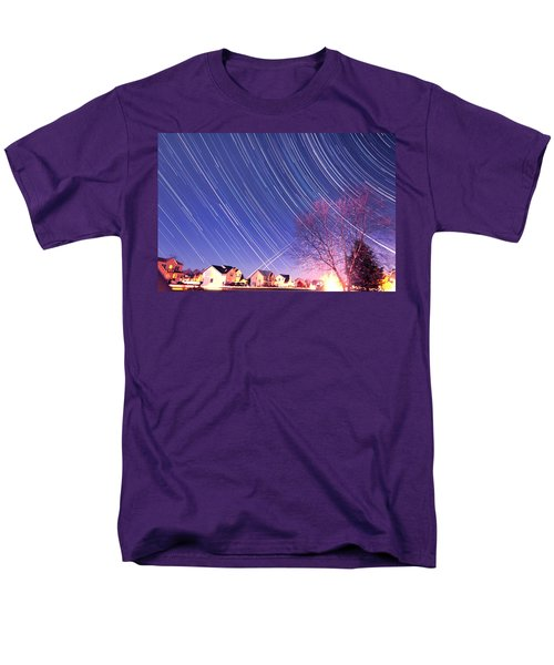 The Star Trails Men's T-Shirt  (Regular Fit) by Paul Ge