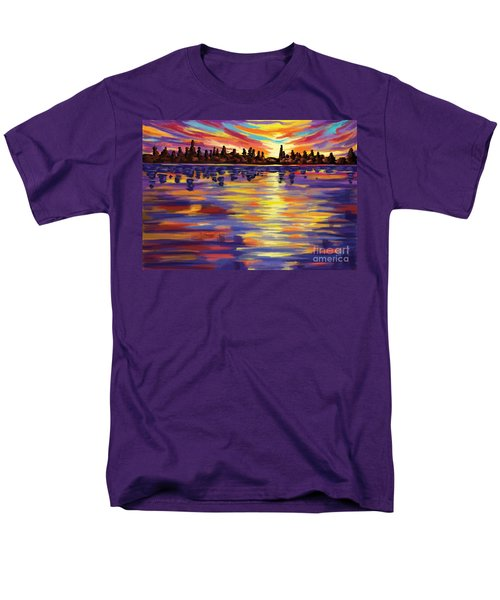 Men's T-Shirt  (Regular Fit) featuring the painting Tyler's Sunrise by Tim Gilliland