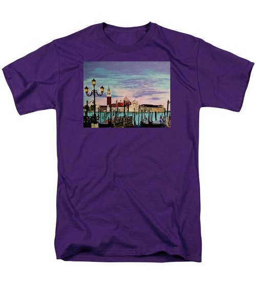 Men's T-Shirt  (Regular Fit) featuring the painting Venice  Italy By Jasna Gopic by Jasna Gopic