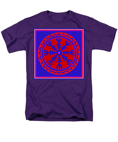Men's T-Shirt  (Regular Fit) featuring the digital art Voodoo Helm Of Awe by Vagabond Folk Art - Virginia Vivier