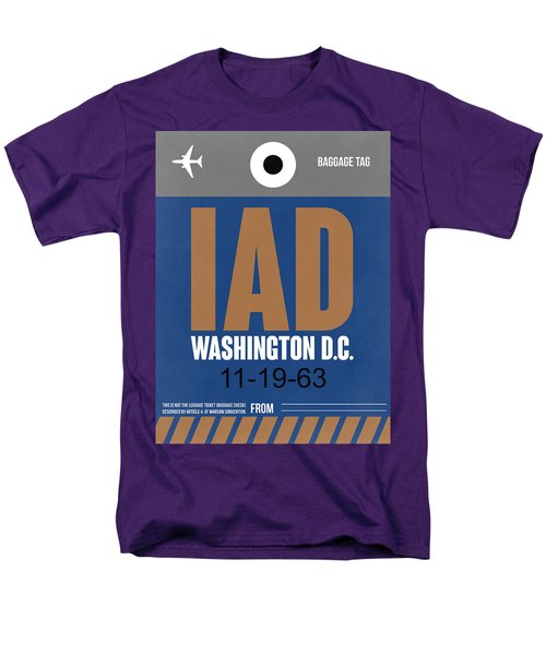 Washington D.c. Airport Poster 4 Men's T-Shirt  (Regular Fit) by Naxart Studio