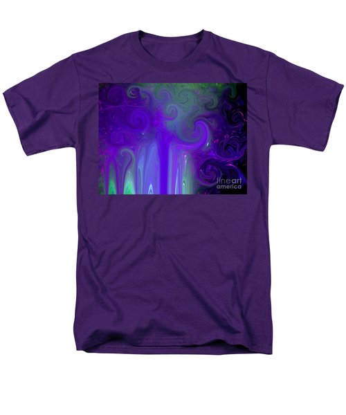Waves Of Violet - Abstract Men's T-Shirt  (Regular Fit) by Susan Carella