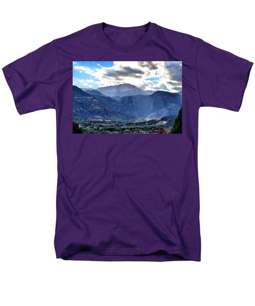 Men's T-Shirt  (Regular Fit) featuring the photograph Westside Colorado Springs by Clarice  Lakota