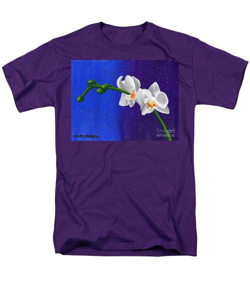 White Orchids Men's T-Shirt  (Regular Fit) by Laura Forde