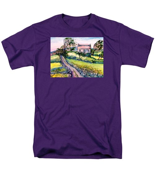 Men's T-Shirt  (Regular Fit) featuring the painting Windy Day Clear Island  by Trudi Doyle