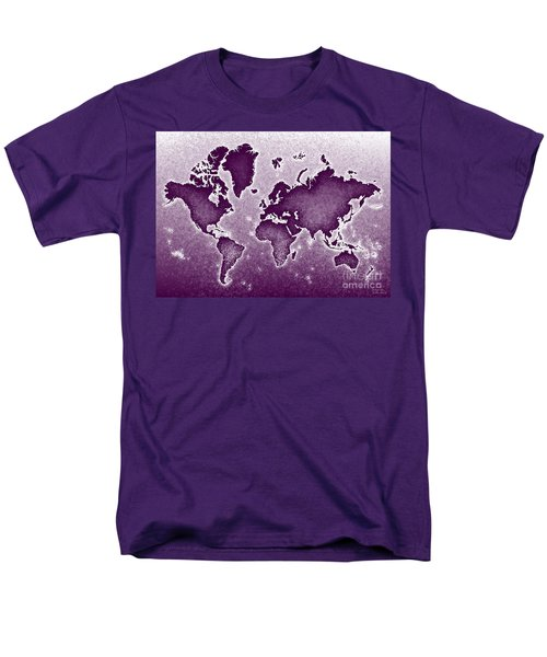 World Map Novo In Purple Men's T-Shirt  (Regular Fit) by Eleven Corners