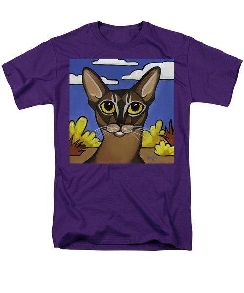 Abyssinian  Men's T-Shirt  (Regular Fit) by Leanne Wilkes