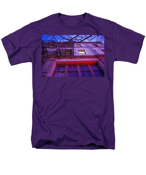 Men's T-Shirt  (Regular Fit) featuring the photograph Apartment Building by Marilyn Wilson