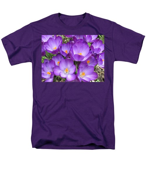 Men's T-Shirt  (Regular Fit) featuring the photograph Crocus by Laurianna Taylor