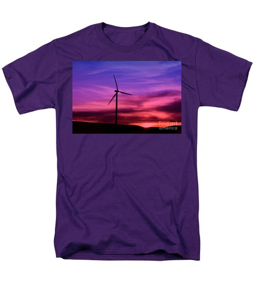 Men's T-Shirt  (Regular Fit) featuring the photograph Sunset Windmill by Alyce Taylor