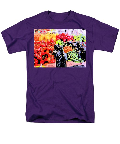 Men's T-Shirt  (Regular Fit) featuring the photograph Vegetables On Display by Kym Backland