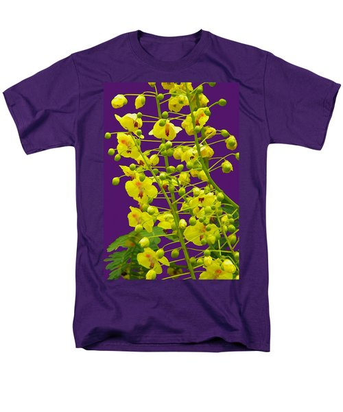 Yellow Flower Men's T-Shirt  (Regular Fit)