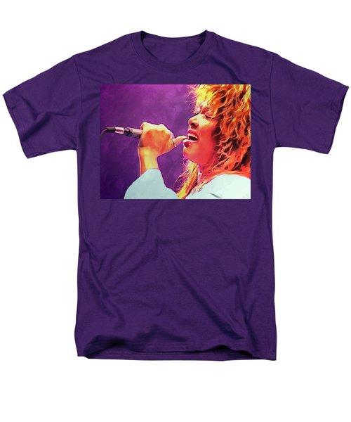 Tina Turner Men's T-Shirt  (Regular Fit) by Sergey Lukashin