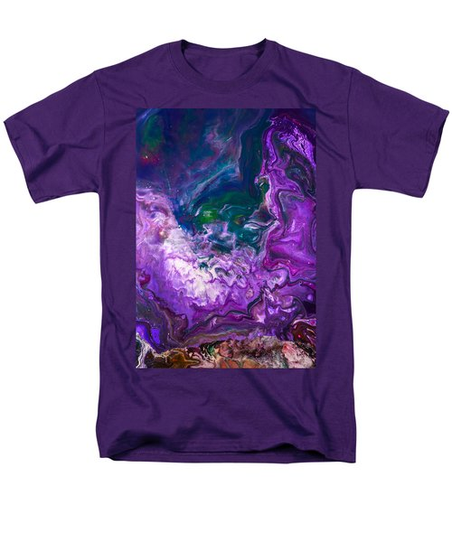 Zeus - Abstract Colorful Mixed Media Painting Men's T-Shirt  (Regular Fit) by Modern Art Prints