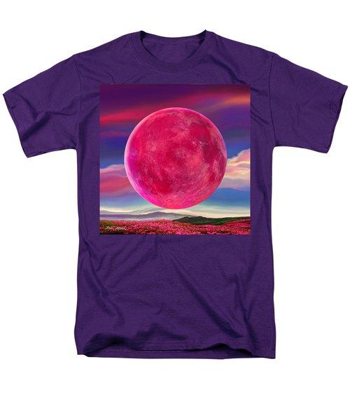 Men's T-Shirt  (Regular Fit) featuring the digital art Full Pink Moon by Robin Moline