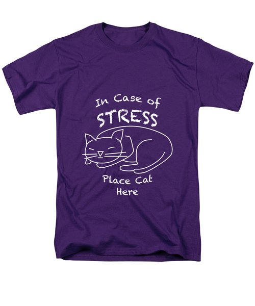 In Case Of Stress, Place Cat Here T-shirt Men's T-Shirt  (Regular Fit)