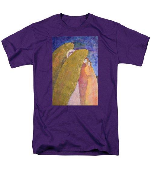 Under The Wing Of An Angel Men's T-Shirt  (Regular Fit) by Lynda Hoffman-Snodgrass