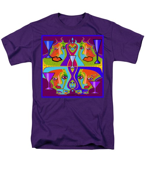 Men's T-Shirt  (Regular Fit) featuring the digital art 1688 - Funny Faces 2017 by Irmgard Schoendorf Welch