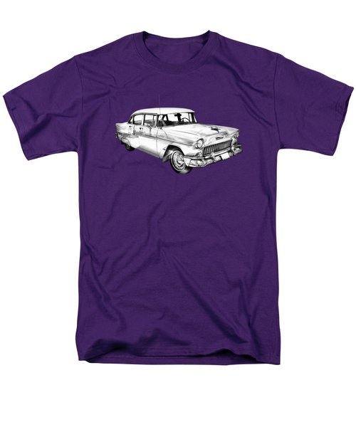 1955 Chevrolet Bel Air Illustration Men's T-Shirt  (Regular Fit) by Keith Webber Jr