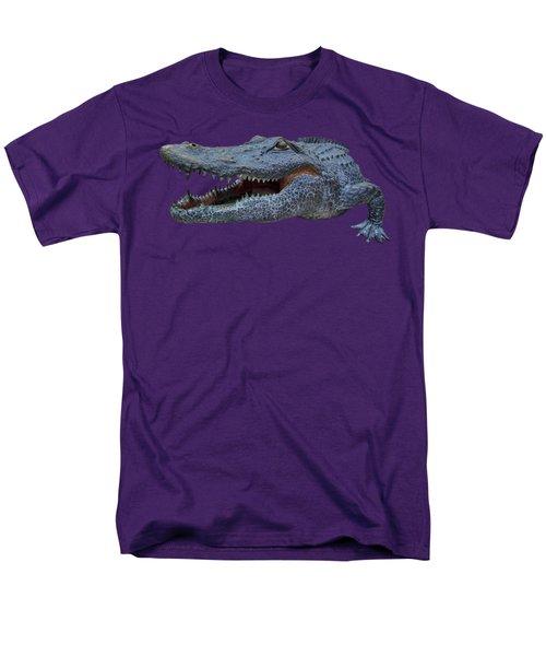 1998 Bull Gator Up Close Transparent For Customization Men's T-Shirt  (Regular Fit) by D Hackett