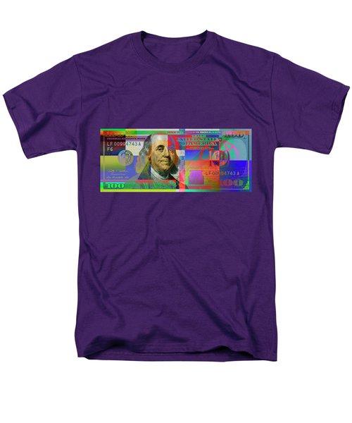 2009 Series Pop Art Colorized U. S. One Hundred Dollar Bill No. 1 Men's T-Shirt  (Regular Fit) by Serge Averbukh