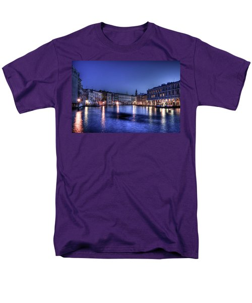 Men's T-Shirt  (Regular Fit) featuring the photograph Venice By Night by Andrea Barbieri