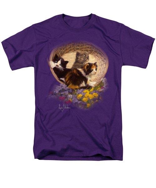 A Basket Of Cuteness Men's T-Shirt  (Regular Fit) by Lucie Bilodeau