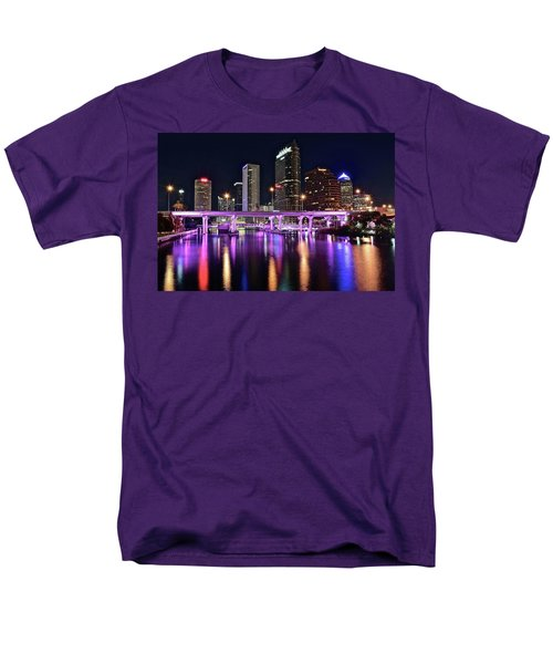 A Tampa Night Men's T-Shirt  (Regular Fit) by Frozen in Time Fine Art Photography