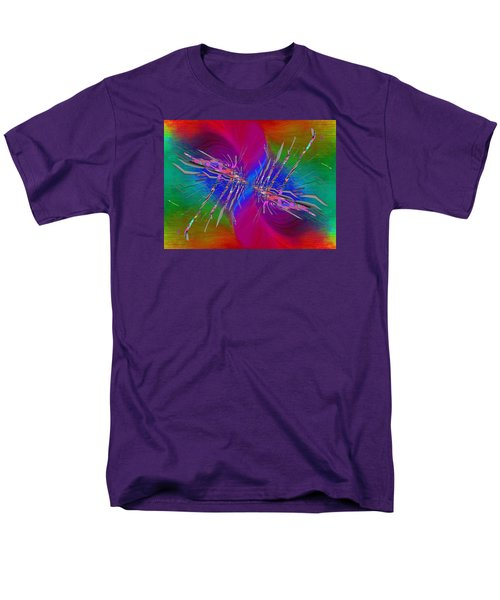 Men's T-Shirt  (Regular Fit) featuring the digital art Abstract Cubed 353 by Tim Allen