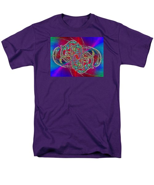 Men's T-Shirt  (Regular Fit) featuring the digital art Abstract Cubed 367 by Tim Allen