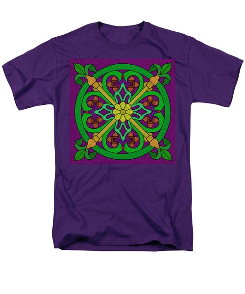 Acorn On Dark Purple Men's T-Shirt  (Regular Fit) by Curtis Koontz